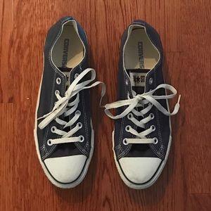 Navy Blue Converse Sneakers - Women's Size 10